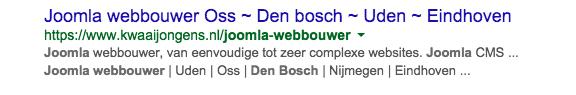 Joomla website bouwer Den Bosch