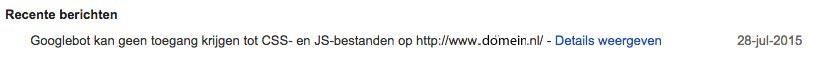 Googlebot kan geen toegang krijgen tot CSS- en JS-bestanden